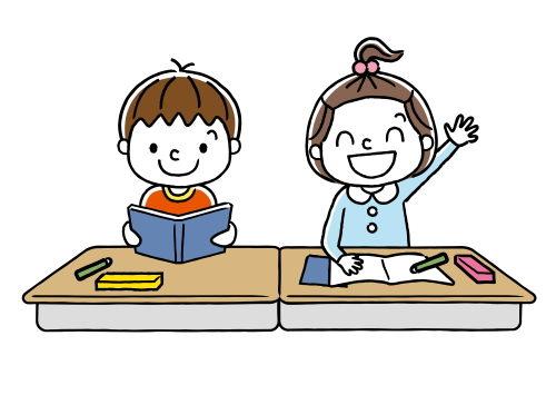 幼稚園で勉強する子ども